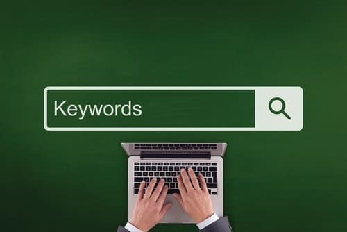 Typing keywords in the search bar