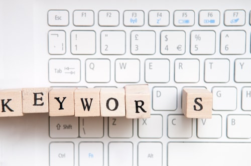 Keyword marketing and SEO results for business website traffic