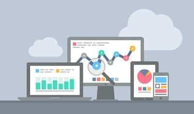 website data analysis concept